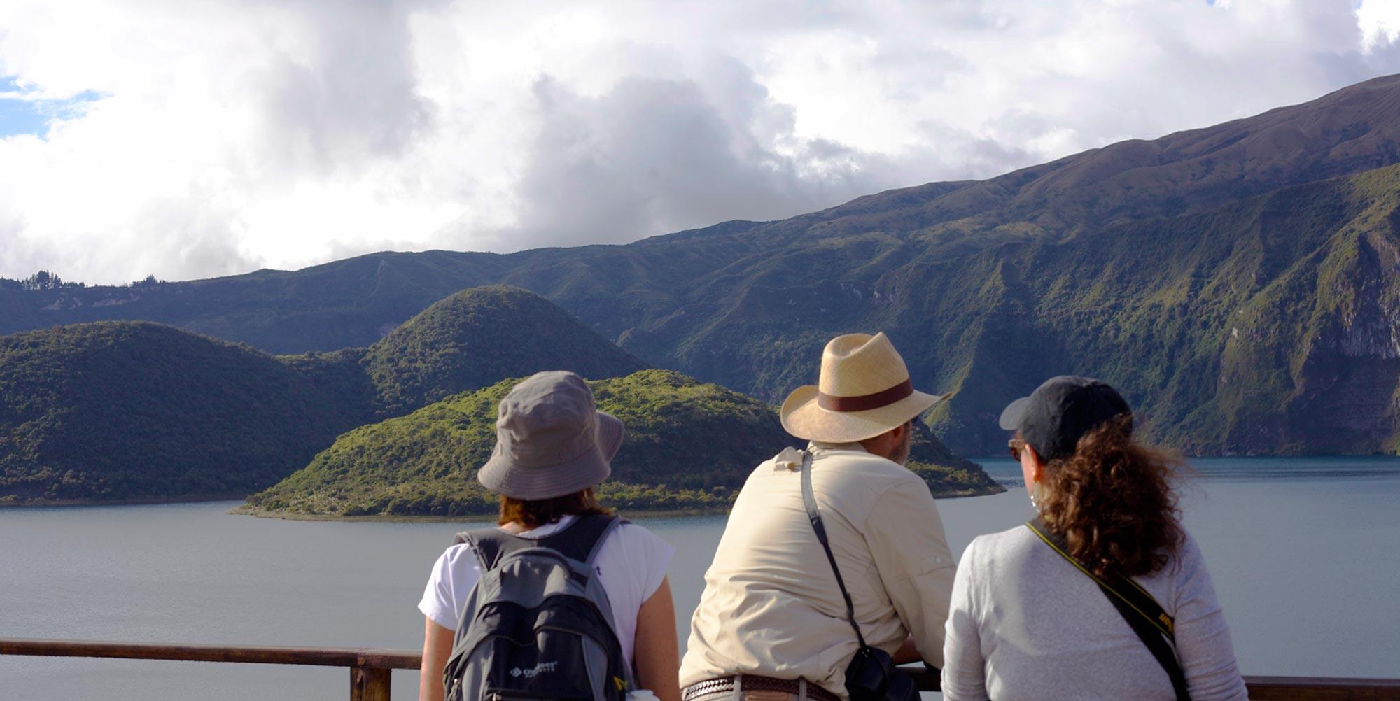 Travelers in Ecuador