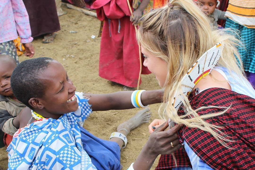 Maasai people in Tanzania Safari