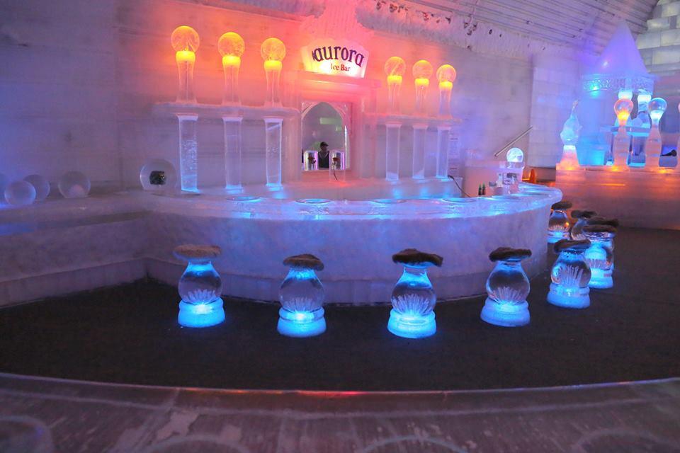 Ice bar at the Aurora Ice Museum in Alaska