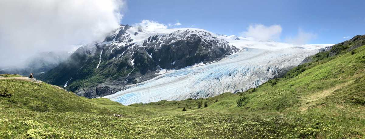 Photo of Exit Glacier in Alaska on Gondwana Ecotour's Glaciers & Grizzlies Adventure.