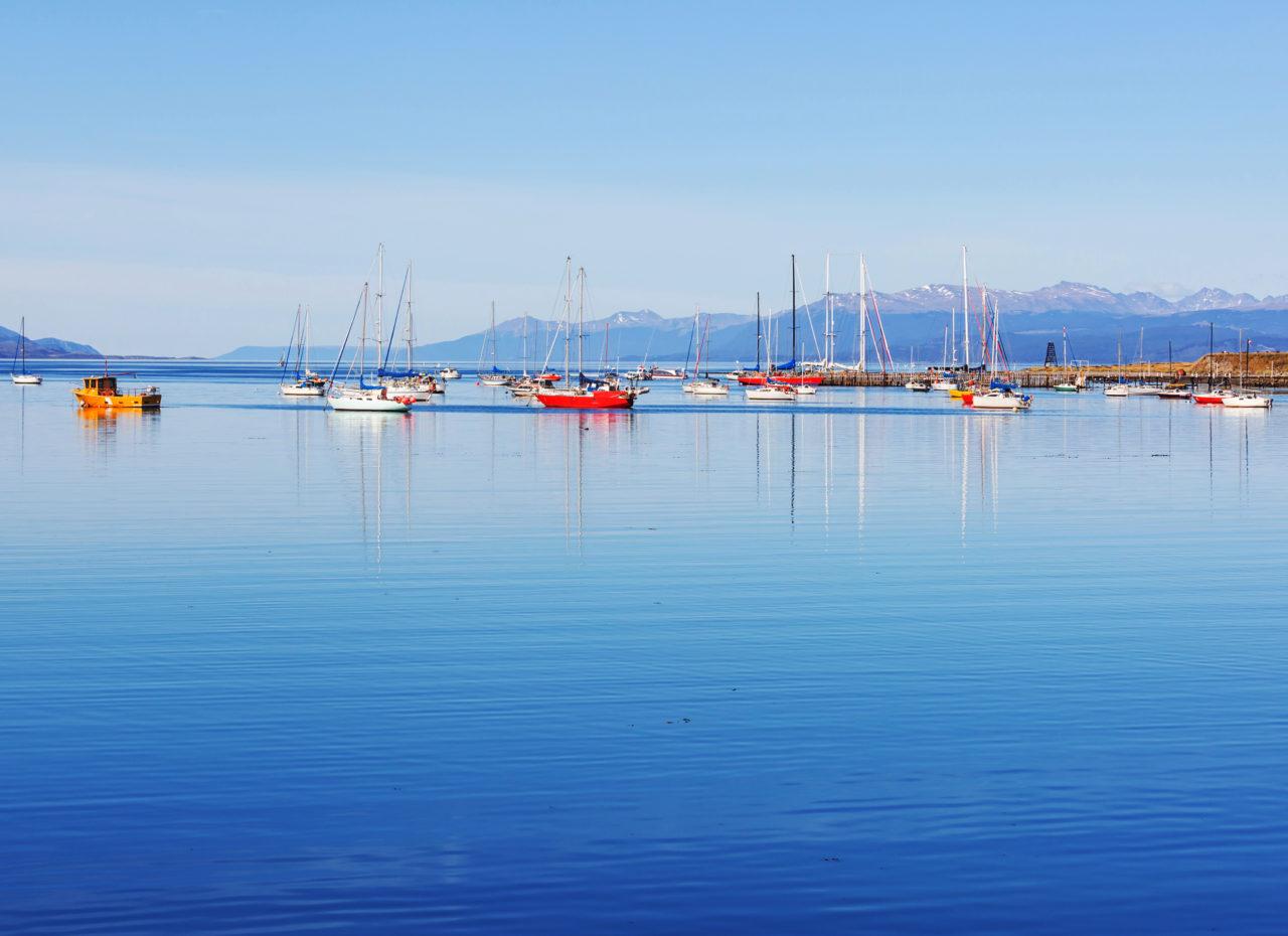 Sunny day in Ushuaia, the capital of Tierra del Fuego