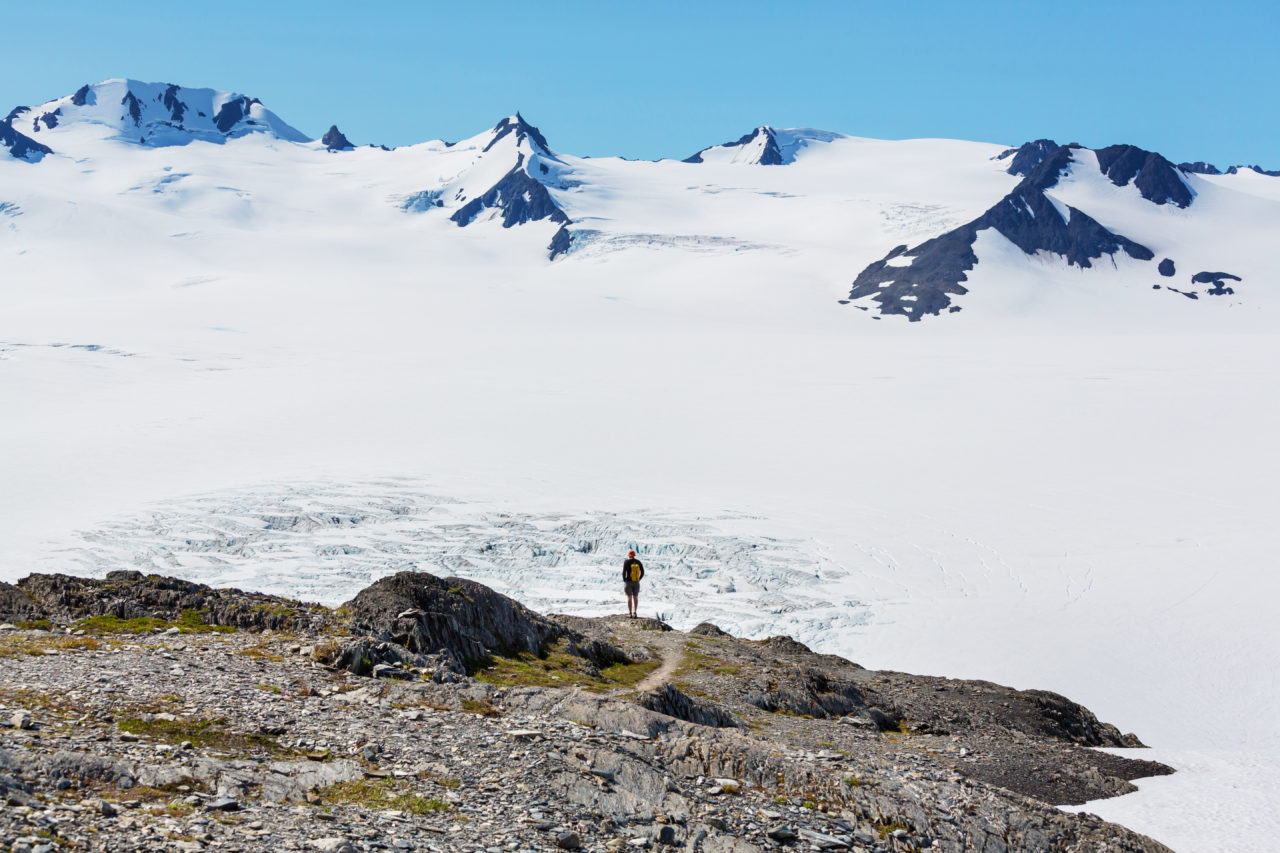 Picture of Exit Glacier in Kenai Fjords National Park, Alaska.