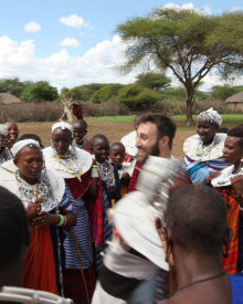 Welcomed by friendly Maasai people