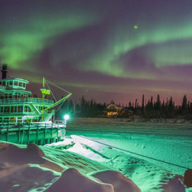 A Steamboat During The Aurora
