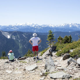 Following Mount Townsend Trail