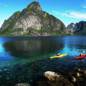 Kayaking in the Lofoten Islands