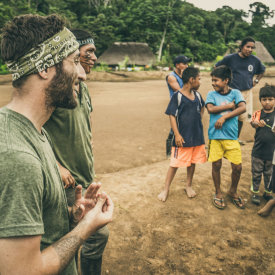 Jared with tribe in Ecuador