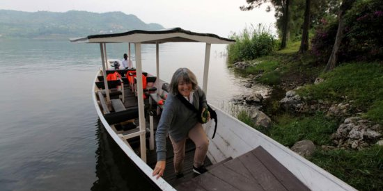 Exploring an island in Lake Kivu