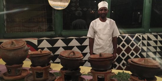 Delicious Traditional Cooking At Le Bambou Gorilla Lodge